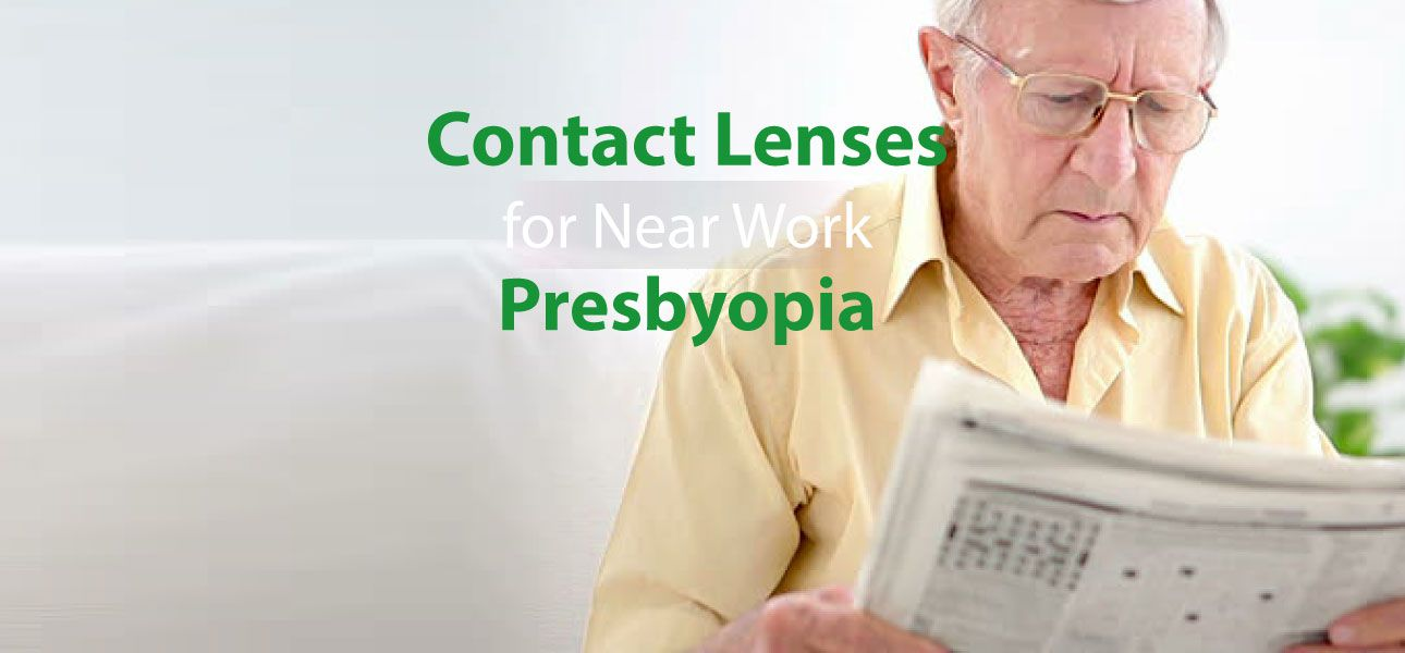 contact lenses for near work presbyobia